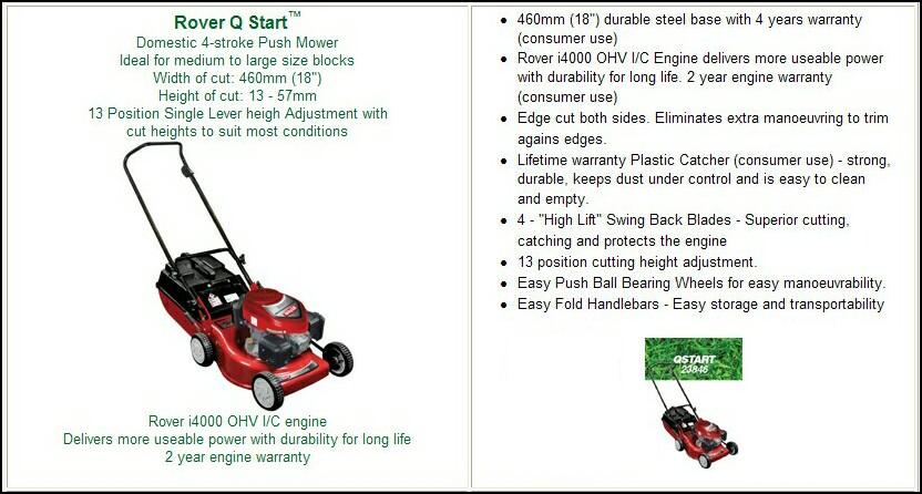 rover qstart manual